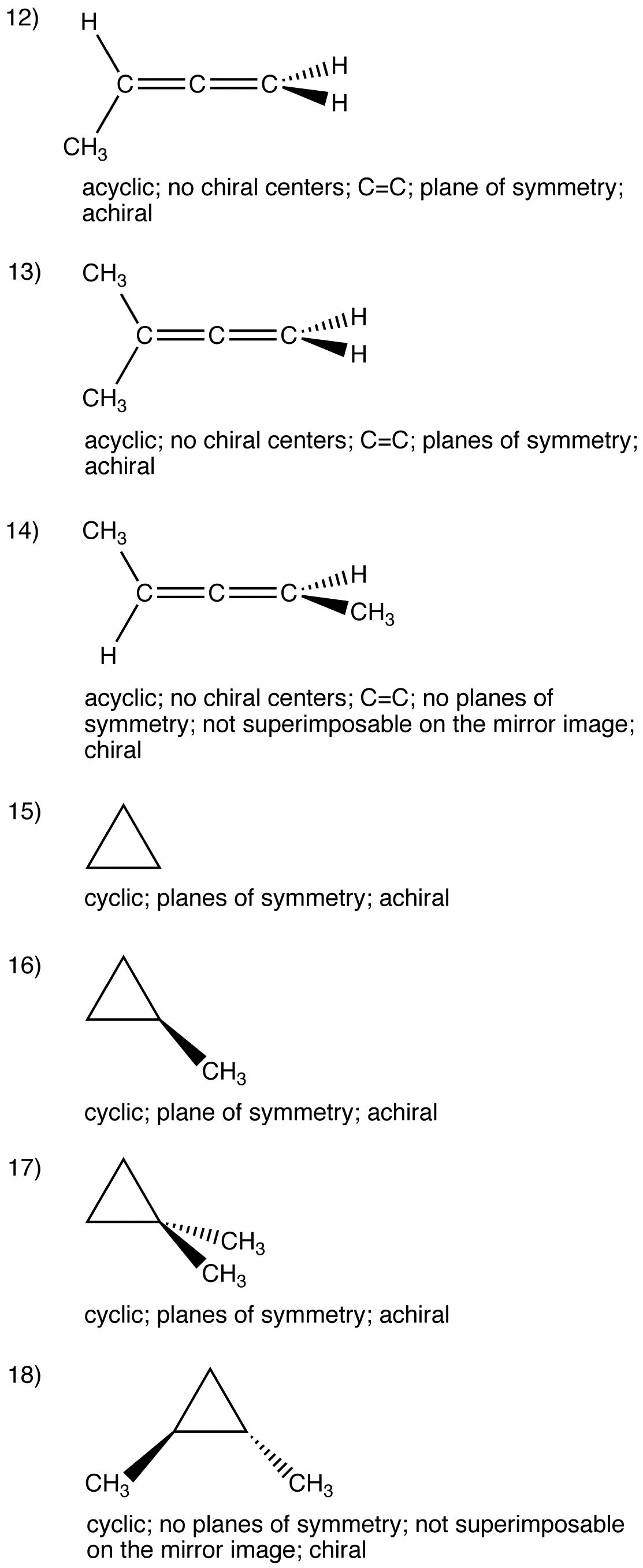 Chiral Molecule Answers Ochempal