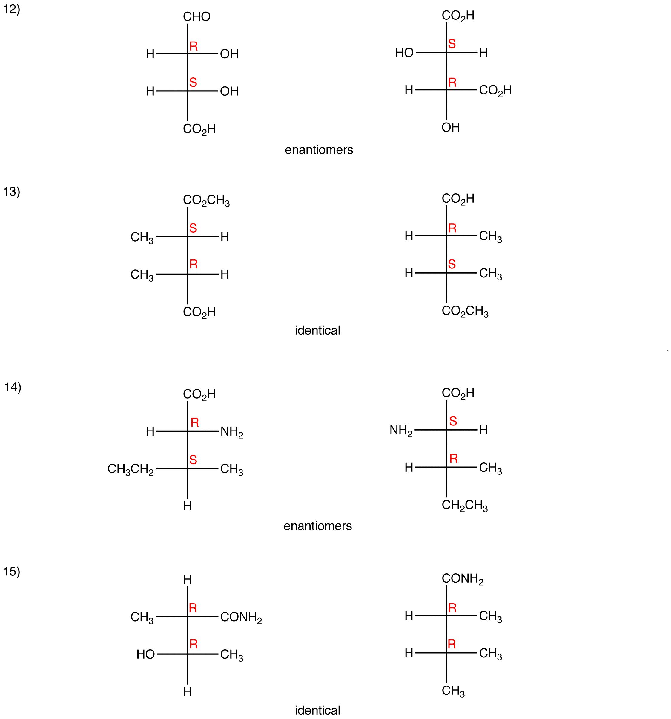 Fischer Projection: Answers | OChemPal