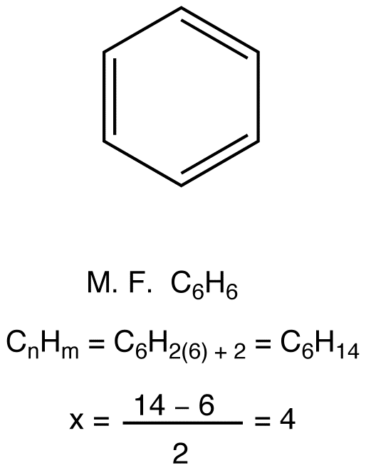 Index Of Hydrogen Deficiency Benzene Ring