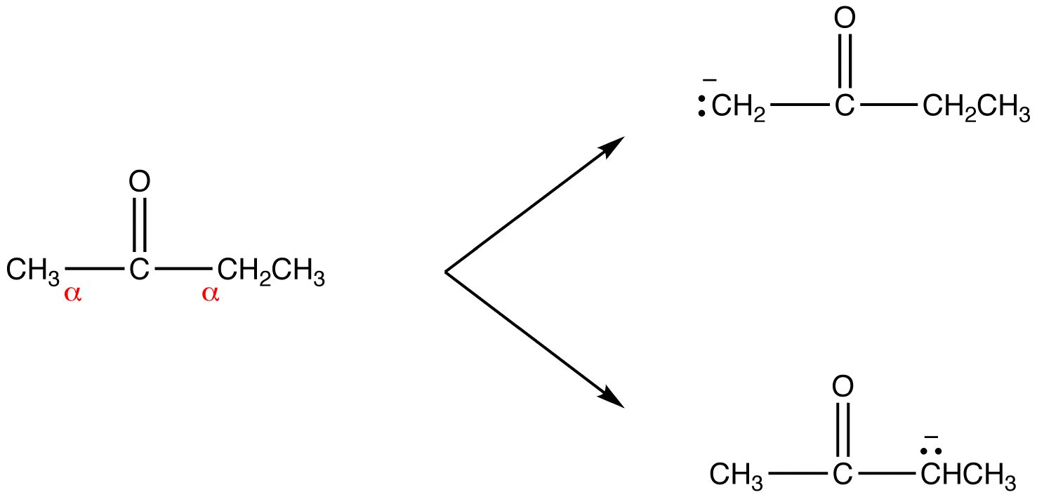 Enolate ions are resonance stabilized.